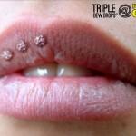 Triple Dew Drop Piercing
